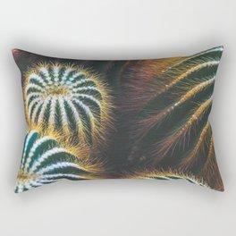 Golden Barrel Cactus Rectangular Pillow