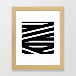 Abstract black & white Lines Stripes Pattern - Mix and Match with Simplicity of Life Framed Art Print