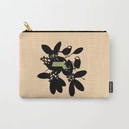 Massachusetts - State Papercut Print Carry-All Pouch