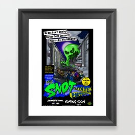 The Snot That Ate Port Harry poster Framed Art Print