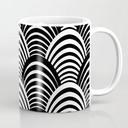 Black and White Art Deco Pattern Coffee Mug