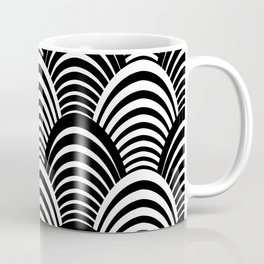 Black and White Art Deco Pattern Coffee Mug