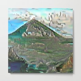 Bohemian Volcano in Another Time Metal Print