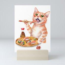 Sushi Cat Mini Art Print