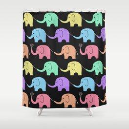 Elephant Midnight Fiesta Shower Curtain
