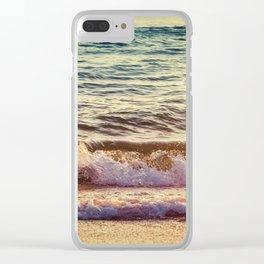 Atlantic Ocean Waves 4194 Clear iPhone Case