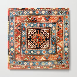Shahsavan Sumakh Khorjin  Antique Caucasian Bag Print Metal Print