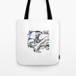 Surfing Feet Tote Bag