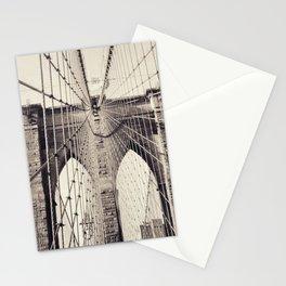 Brooklyn bridge, New York city, black & white photography, wall decoration, home decor, nyc fine art Stationery Cards