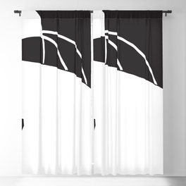 abstract black and white no.3 Blackout Curtain