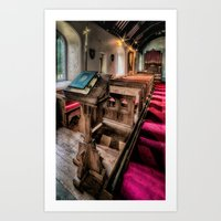 bible Art Prints featuring Welsh Bible by Adrian Evans