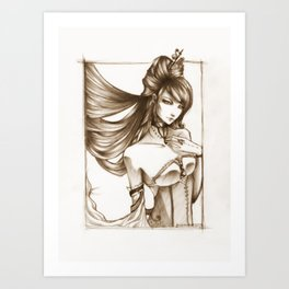 the mistress Art Print