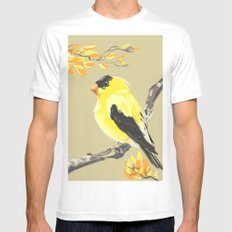 Yellow Finch MEDIUM White Mens Fitted Tee