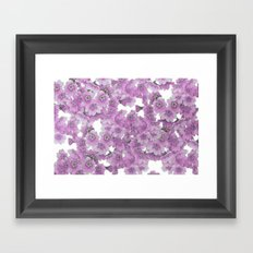 Pink Flowers on White Framed Art Print