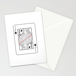 Single playing cards: Jack of Clubs Stationery Cards