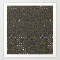 Imaginary Agates (Warm Dark Sand Tones) Art Print