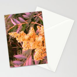 Pale Yellow and Green Sideways Sumac Stationery Cards