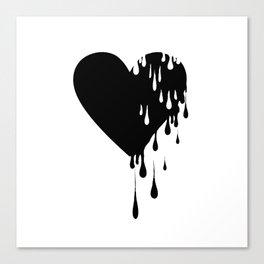 Bleeding Black Heart Canvas Print