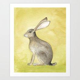 Goldenrod Hare Art Print