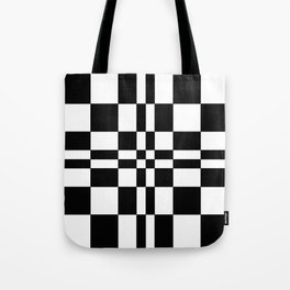 Intersections Black and White Tote Bag