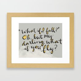 What If You Fly Framed Art Print
