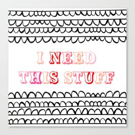 I NEED THIS STUFF // scalloped illustration circus colors Canvas Print