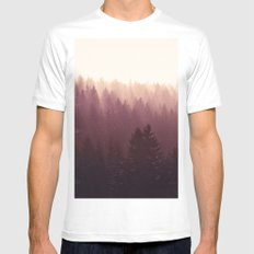 Chasing Light White MEDIUM Mens Fitted Tee