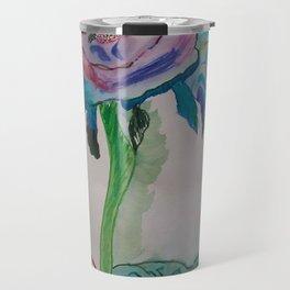 Flower inspiration modern paintings by Christian T. Travel Mug