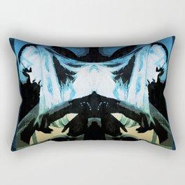 Joni Mitchell Watercolor Rectangular Pillow