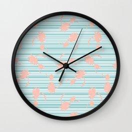 Minty palm Wall Clock