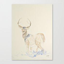 deer watercolor Canvas Print