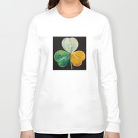irish Long Sleeve T-shirts featuring Irish Shamrock by Michael Creese