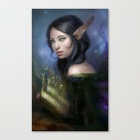 magical girl Canvas Prints featuring Magical girl by Maximko