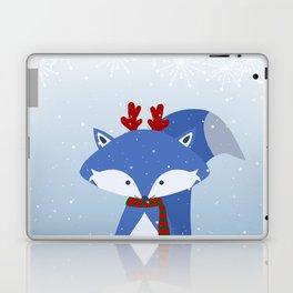 Cute Fox Wintery Holiday Design Laptop & iPad Skin