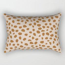Jaguar | Brown Rectangular Pillow