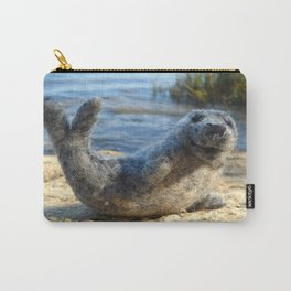 Harbor Seal on the rocky Maine coast Carry-All Pouch