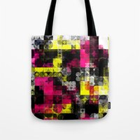 contemporary Tote Bags featuring Contemporary Geometric by Idle Amusement