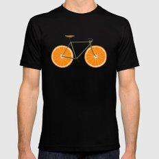 Zest (Orange Wheels) Mens Fitted Tee LARGE Black