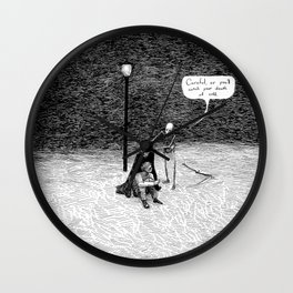 Polite Death (But You're the One Who's Only Bones) Wall Clock