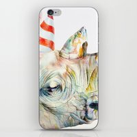 party iPhone & iPod Skins featuring Rhino's Party by Brandon Keehner