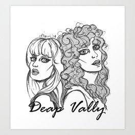 deap vally Art Print