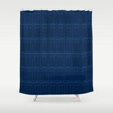 TARDIS Blueprint Pattern - Doctor Who Shower Curtain