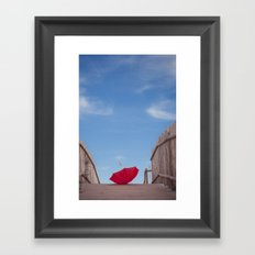 Lost umbrella  Framed Art Print
