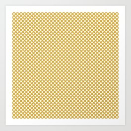 Spicy Mustard and White Polka Dots Art Print