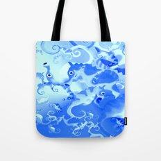 Seahorse in blue Tote Bag