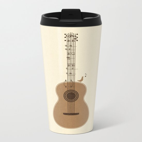 Classical Notation Metal Travel Mug