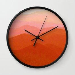 Hunter Mountain Cinnamon Wall Clock