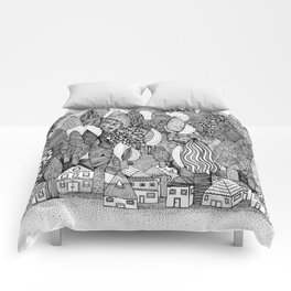 Mysterious Village Comforters