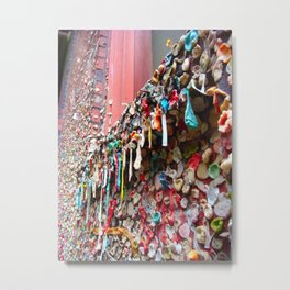 Seattle Gum Wall Metal Print