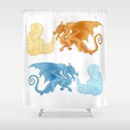 Ice dragon Shower Curtain